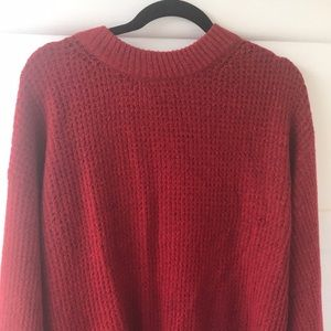 American Eagle oversized red sweater